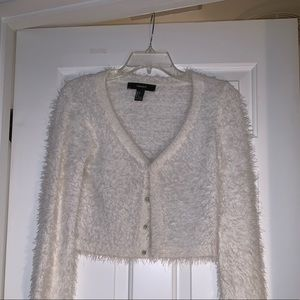 ✨☁️ Forever 21 Ivory Fuzzy Cardigan ☁️✨